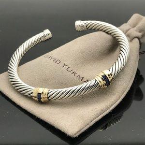 David Yurman Double Station Sapphire Cable Bracele